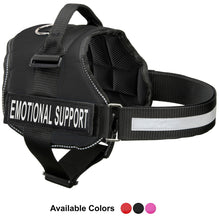 "Load image into Gallery viewer, Emotional Support Vest Harness, Service Animal Vest with 2 Reflective ""EMOTIONAL SUPPORT"" Patches, by Industrial Puppy"