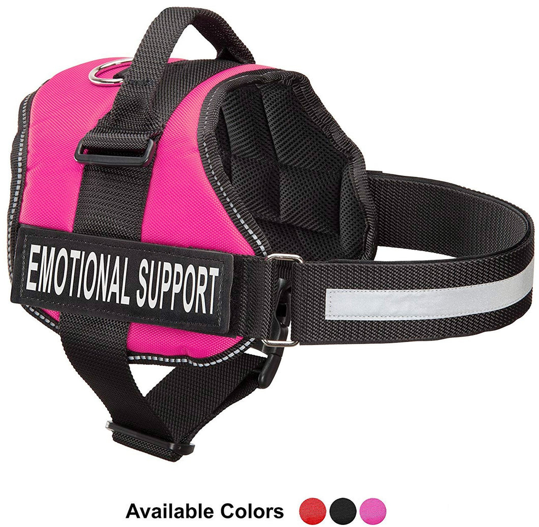 Emotional Support Vest Harness, Service Animal Vest with 2 Reflective