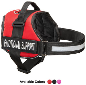"Emotional Support Vest Harness, Service Animal Vest with 2 Reflective ""EMOTIONAL SUPPORT"" Patches, by Industrial Puppy"