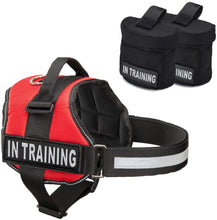 Load image into Gallery viewer, Industrial Puppy Service Dog In Training Vest With Hook and Loop Straps and Detachable Backpacks - Animal Vests From M - XXL - Service Dog Harness with Reflective Patch and Comfortable Mesh Design
