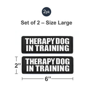Velcro Patches for Harness - Service Dog, Emotional Support, In Training, Service Dog In Training, and Therapy Dog Patches, by Industrial Puppy