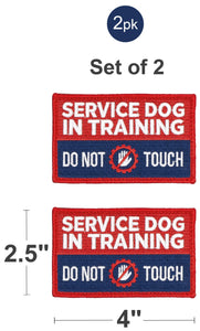 Industrial Puppy Embroidered Service Dog in Training Patches with Hook and Loop Backing - Service Dog Patch for Service Dog in Training Vests - Quality in Training Dog Patch for Working Dog