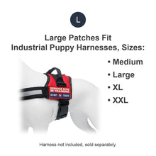 Load image into Gallery viewer, Industrial Puppy Embroidered Service Dog in Training Patches with Hook and Loop Backing - Service Dog Patch for Service Dog in Training Vests - Quality in Training Dog Patch for Working Dog