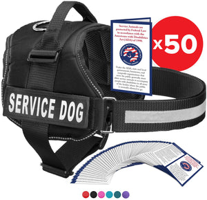 "Service Dog Vest Harness, Service Animal Vest with 2 Reflective ""SERVICE DOG"" Patches, by Industrial Puppy"