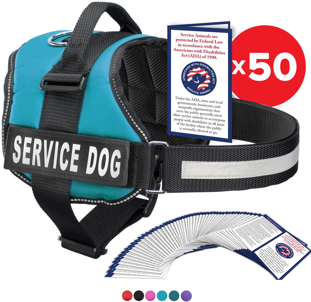 Service Dog Vest Harness, Service Animal Vest with 2 Reflective