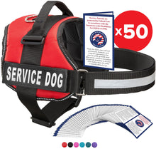 "Load image into Gallery viewer, Service Dog Vest Harness, Service Animal Vest with 2 Reflective ""SERVICE DOG"" Patches, by Industrial Puppy"