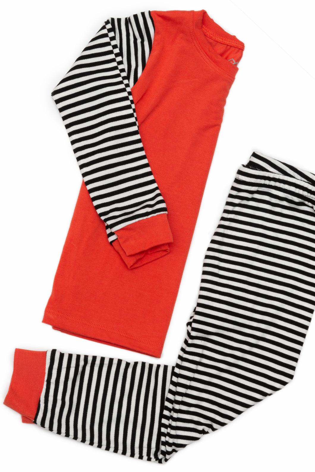 Tangerine stripes bamboo pajamas (Kids)
