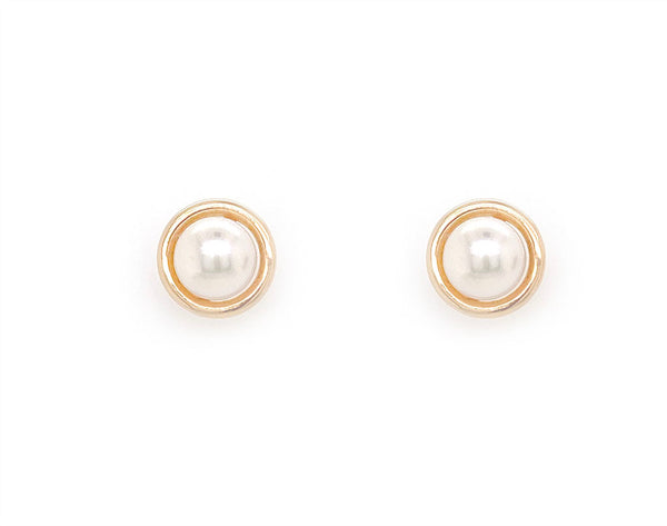 9ct yellow Gold Pearl Ball Studs