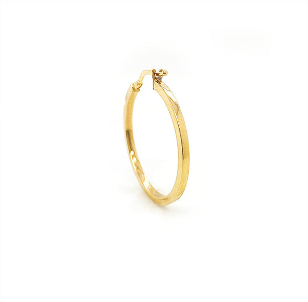 9ct Yellow Gold Flat Hoops