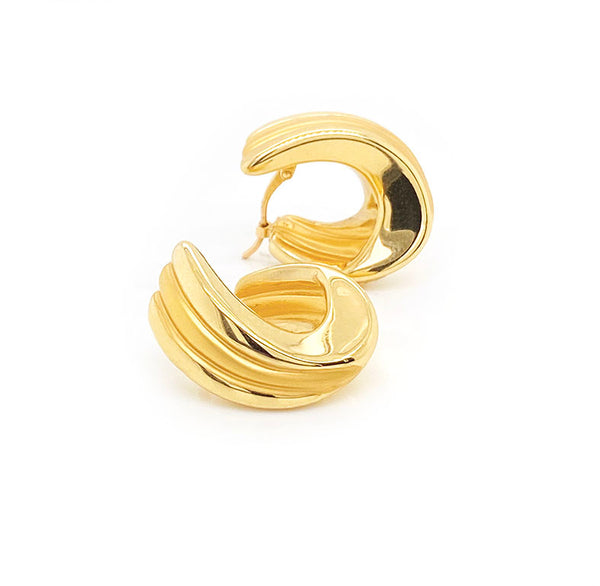 18ct Yellow Gold Clip Earrings