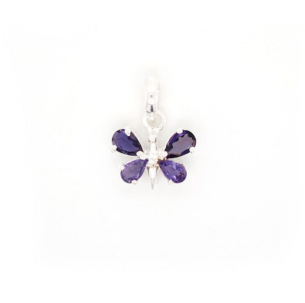 Iolite Butterfly Pendant