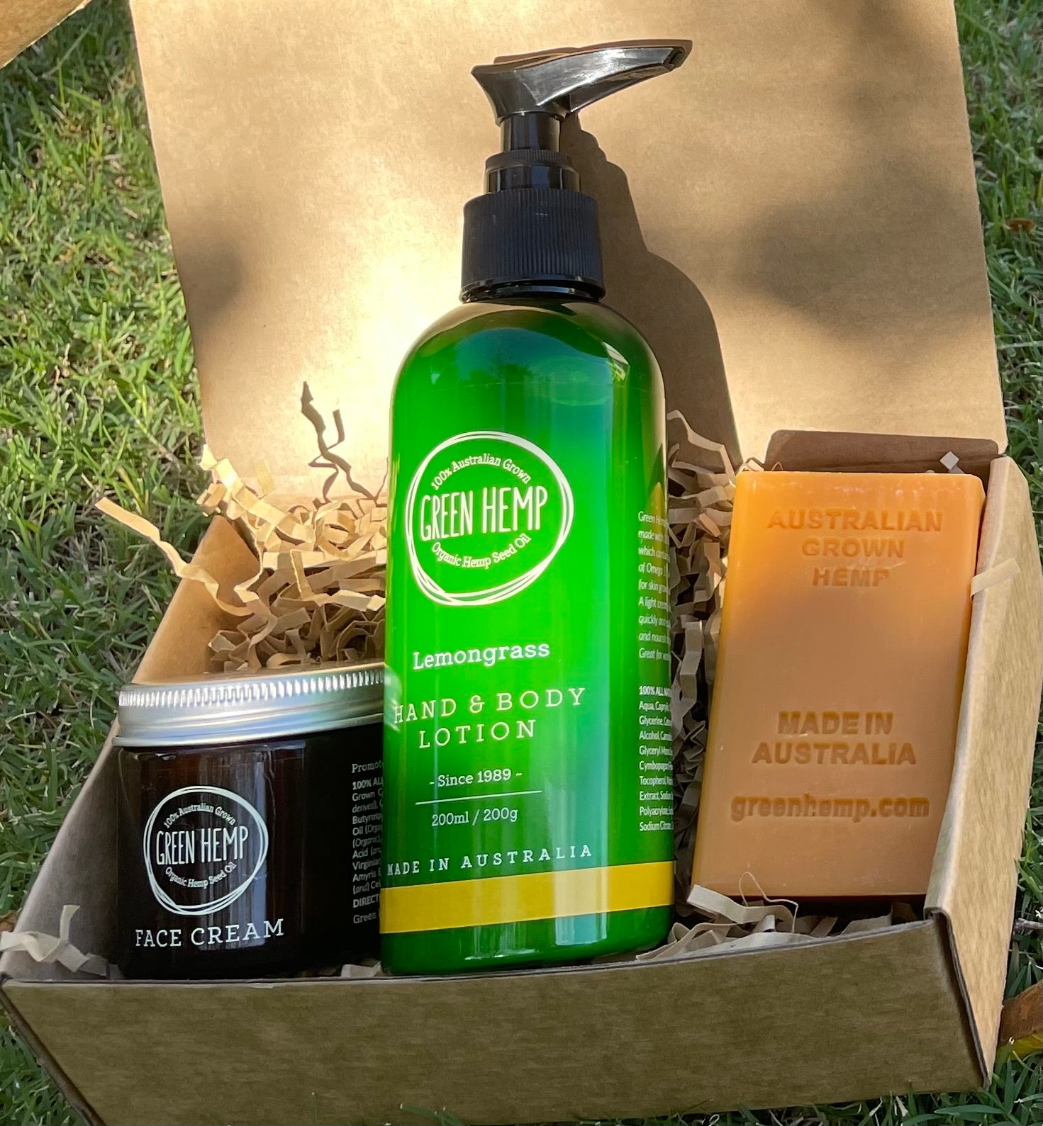 Mothers Day Gift Pack  -Hand and Body Lotion,  Face Cream and Hemp Soap - GREEN HEMP AUSTRALIA