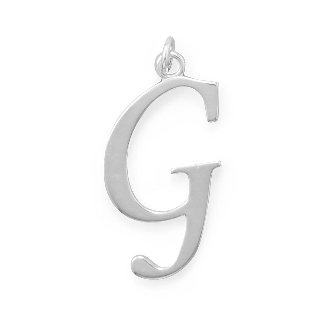 Polished Letter G Initial Pendant