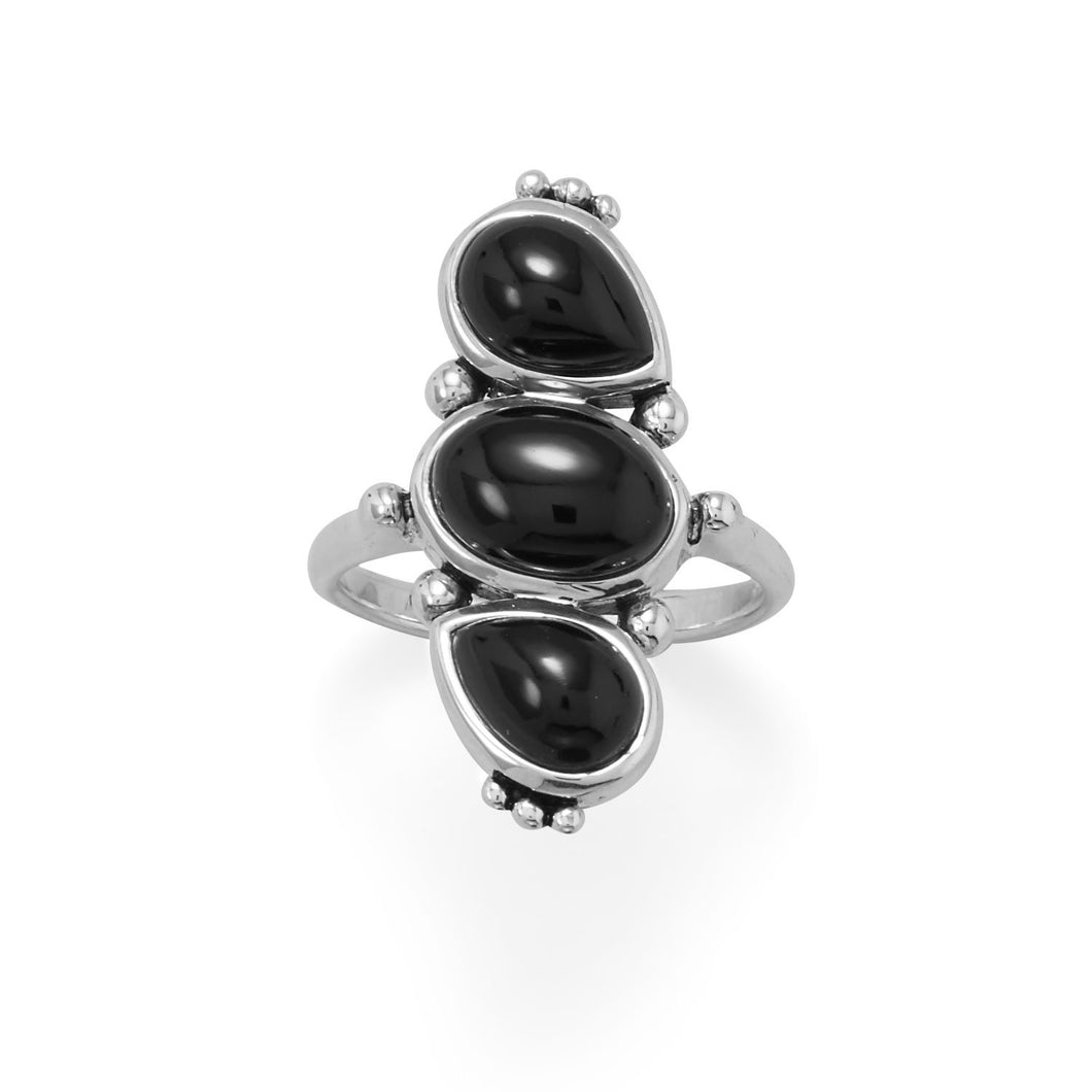 Multi Shape Black Onyx Ring