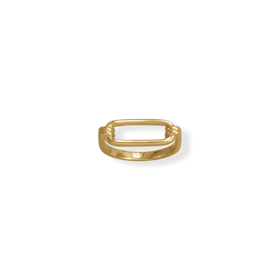 14 Karat Gold Plated Paperclip Ring