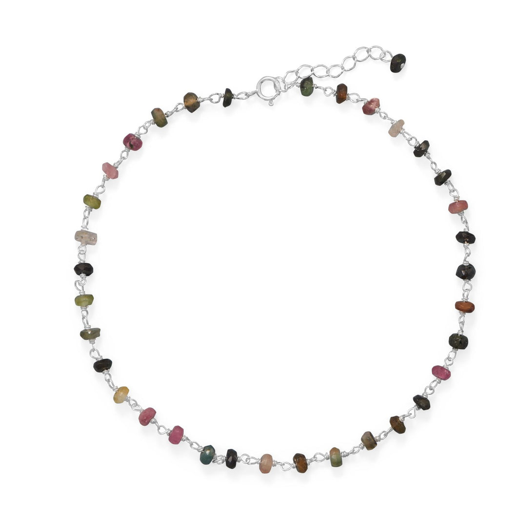 Colorful! Multi-Color Tourmaline Anklet