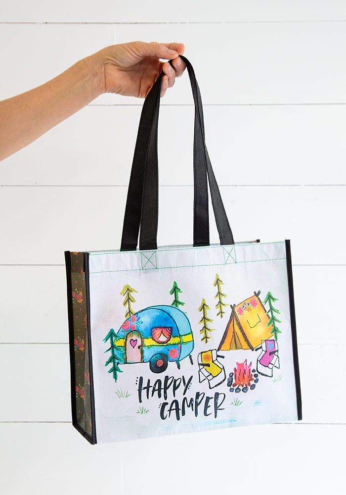 Happy Camper Recycled & Reusable Gift Bag (Large)