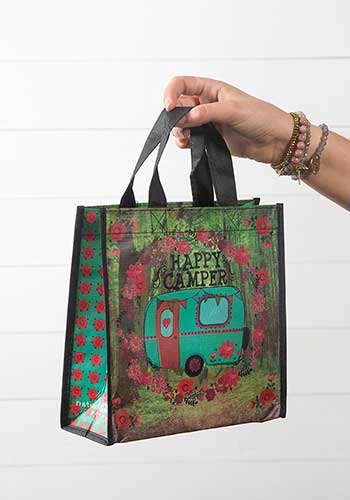 Happy Camper Recycled & Reusable Gift Bag (Medium)