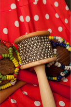 Load image into Gallery viewer, Wooden Cabasa w/ Metal Beads