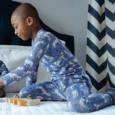 wolves bamboo kids pajamas