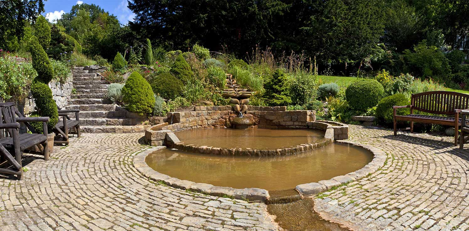 Vesica Pool at Chalice Well Gardens in Glastonbury