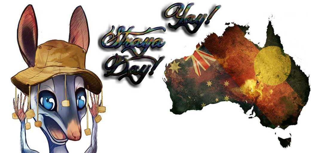 "Bill B. says ""G'day Mate"" to all our Cobbers and Rellies, for Straya Day"