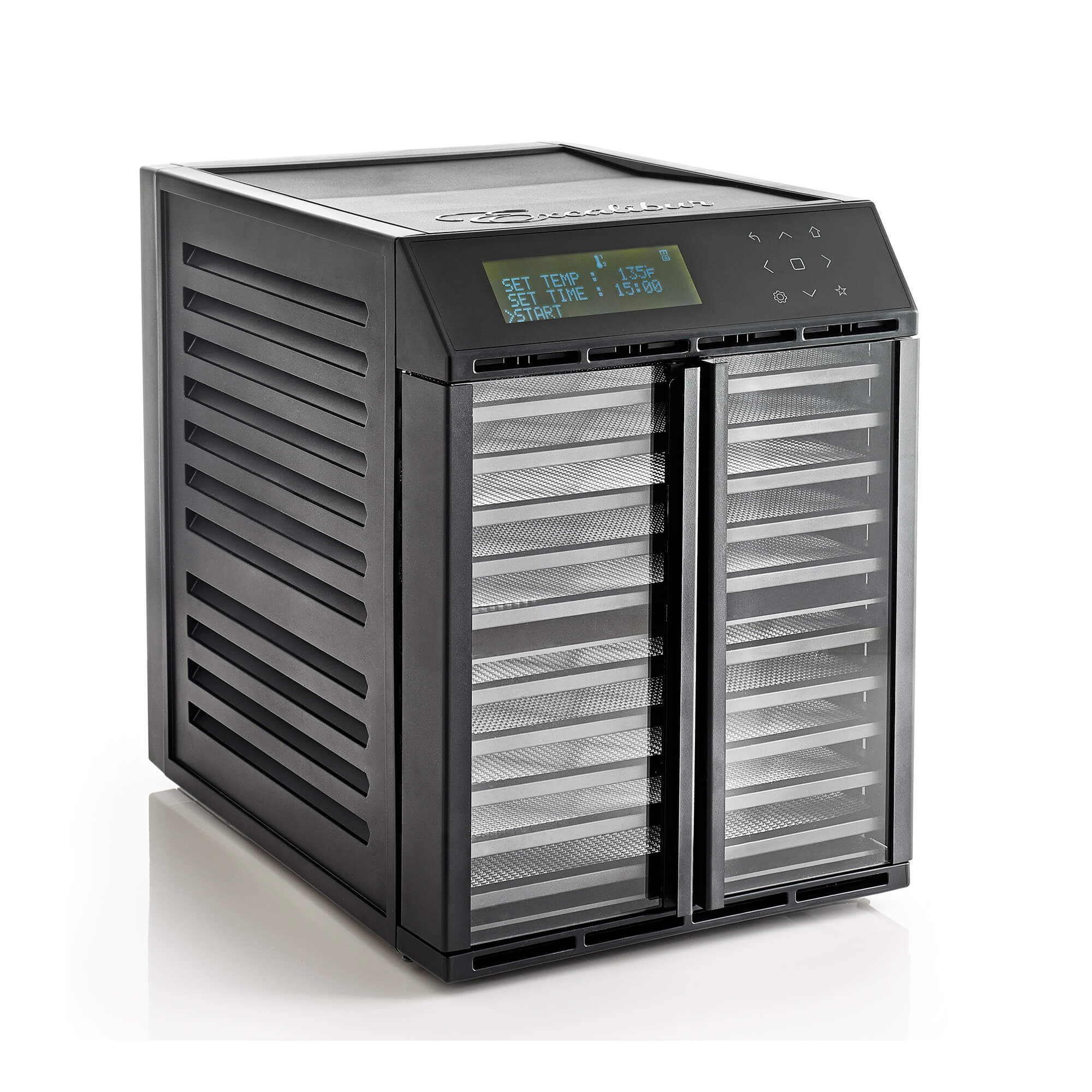Excalibur RES10 10 tray digital dehydrator with clear doors closed.