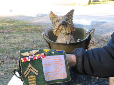 A memorial statue was unveiled on December 12 of that year, at the Australian War Memorial at the Queensland Wacol Animal Care Campus in Brisbane.