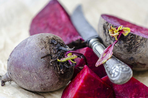 Peel and slice beets as thinly as possible with a sharp knife or mandoline slicer.