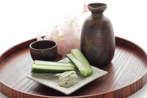 Serve with a wedge of sudachi citrus, lemon or lime., some sliced cucumbers, and a touch of wasabi for a kick!