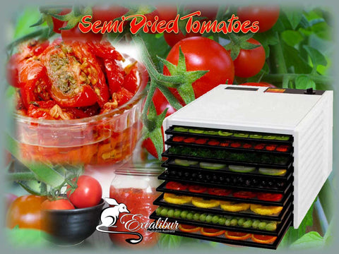 Semi-Dried Tomatoes using the Excalibur Dehydrator.