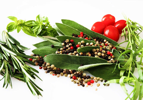 Fresh herbs and spices. The more you consciously include a variety of the five tastes into your food preparation, the more satisfying and nutritionally enhanced your meals will be.