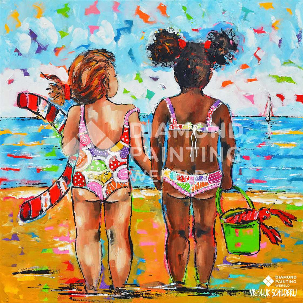 La plage | Exclusivité Diamond Painting Monde