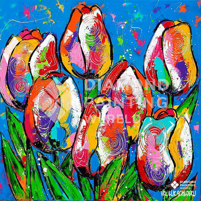 Tulipes colorées | Exclusivité Diamond Painting Monde