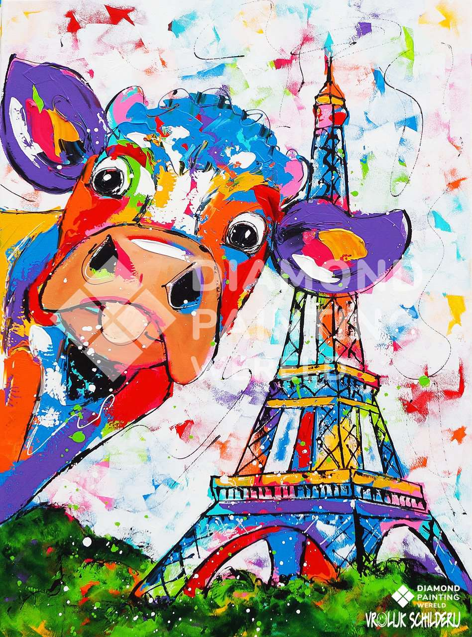 Une vache à Paris | Exclusivité Diamond Painting Monde