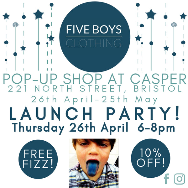 FIVE BOYS CLOTHING POP UP AT CASPER BRISTOL