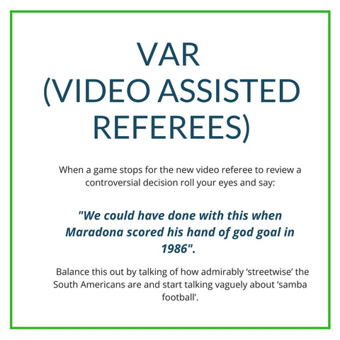 Video Assisted Referees