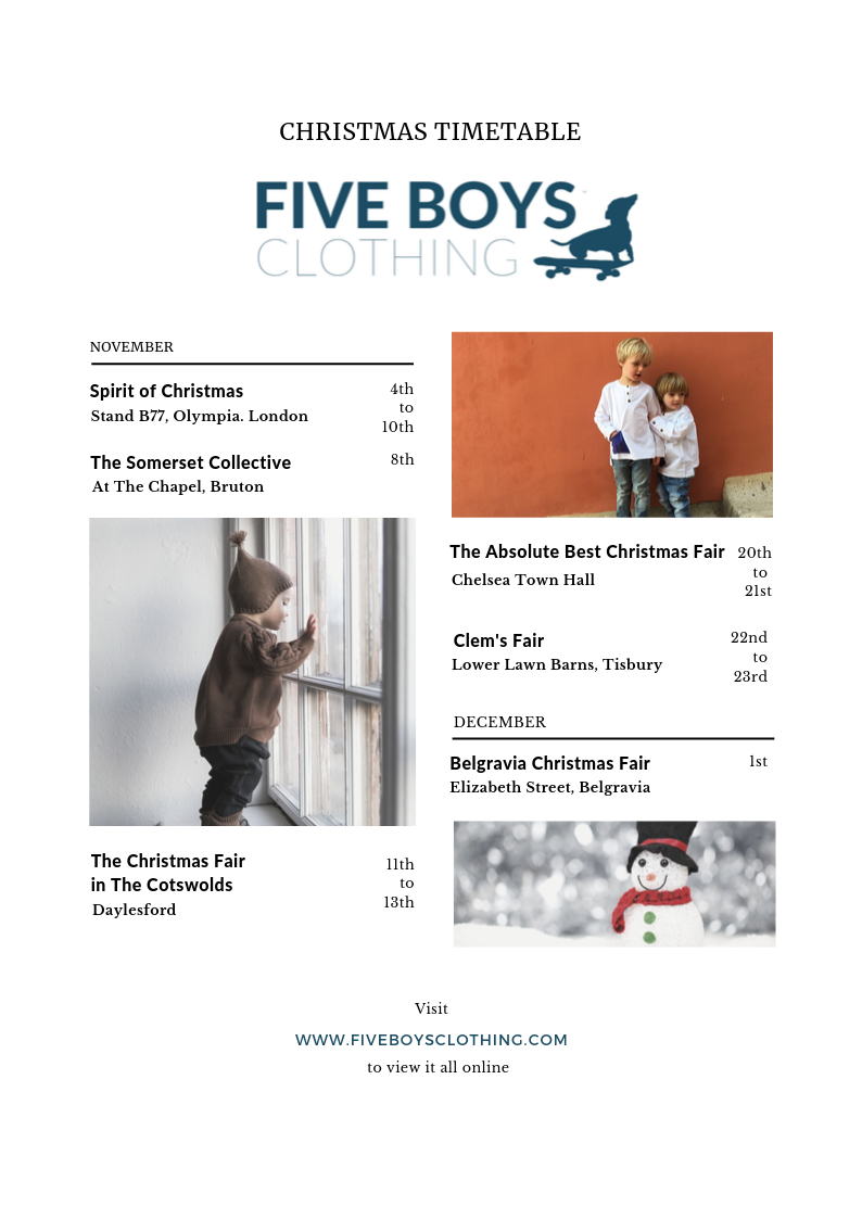 five boys christmas pop ups