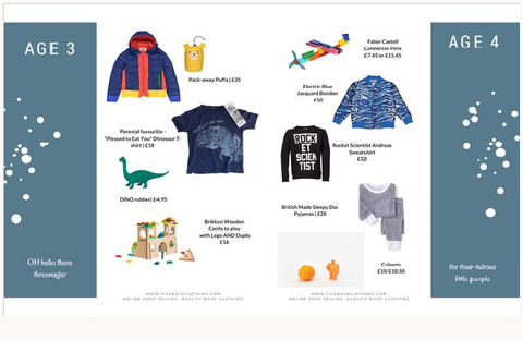 Gift guide for boys aged 3 to 4