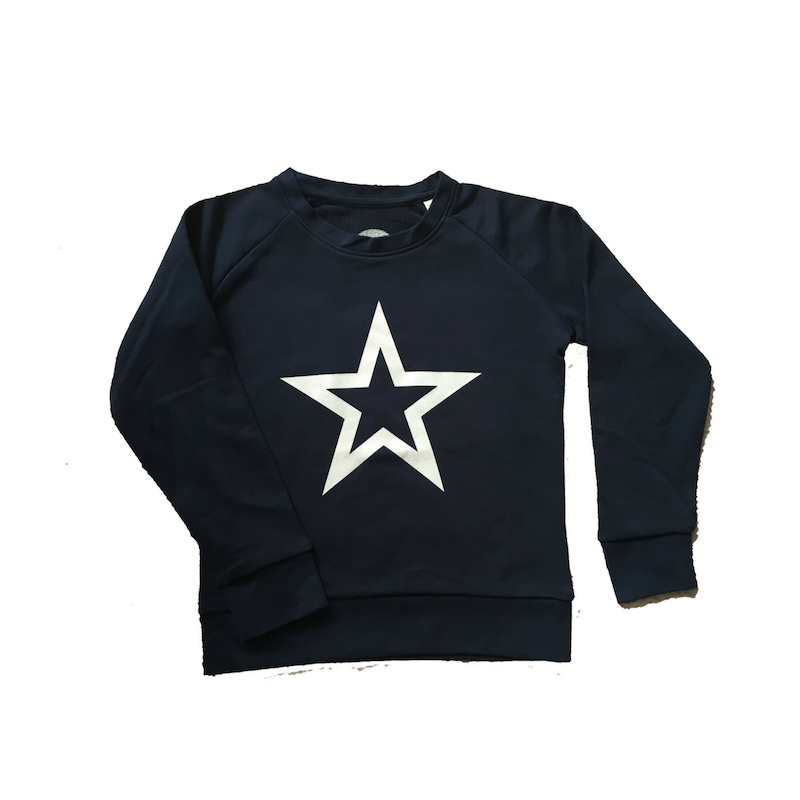 navy blue kids sweatshirt organic cotton