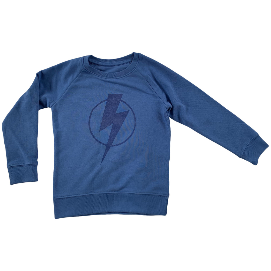 blue flash kids sweatshirt