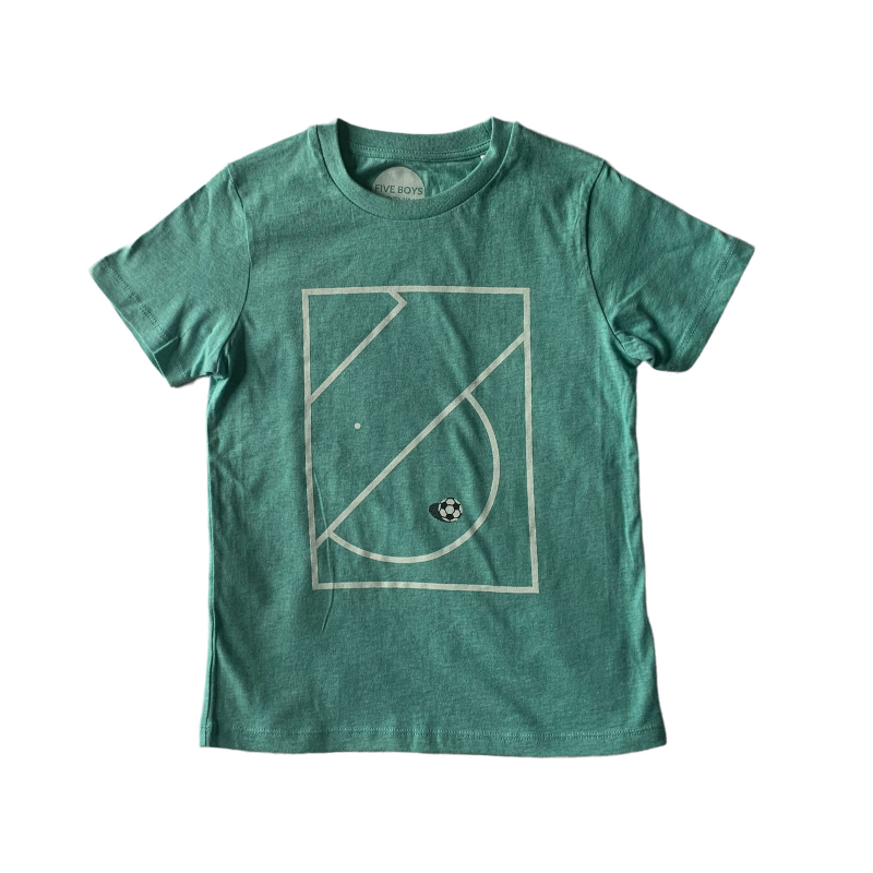 Boy's Football T-shirt on Organic Green Cotton