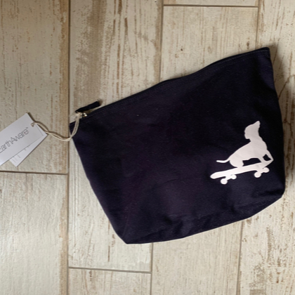 Skate-boarding Dachshund Organic Cotton Wash Bag