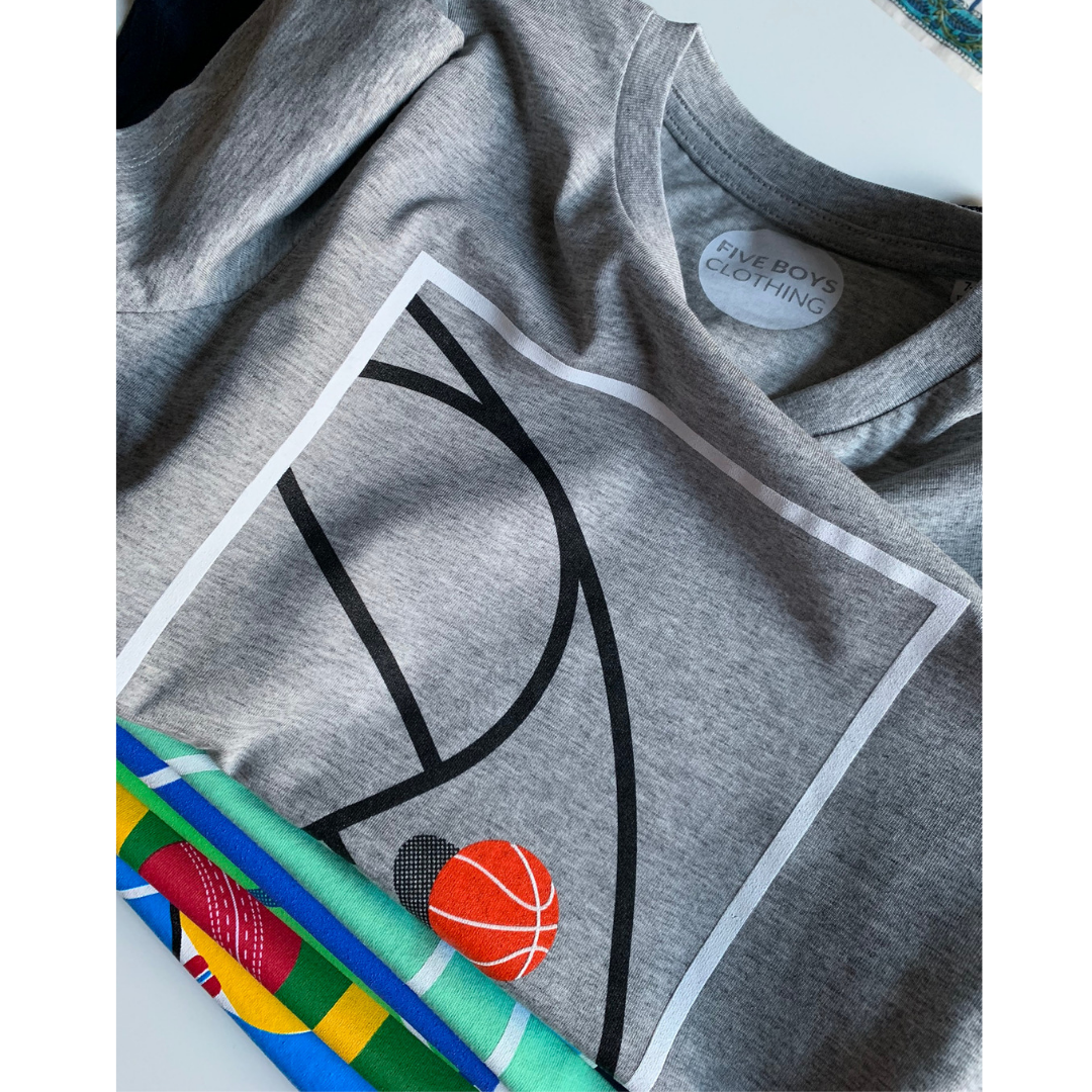 Basketball Print Organic T-shirt