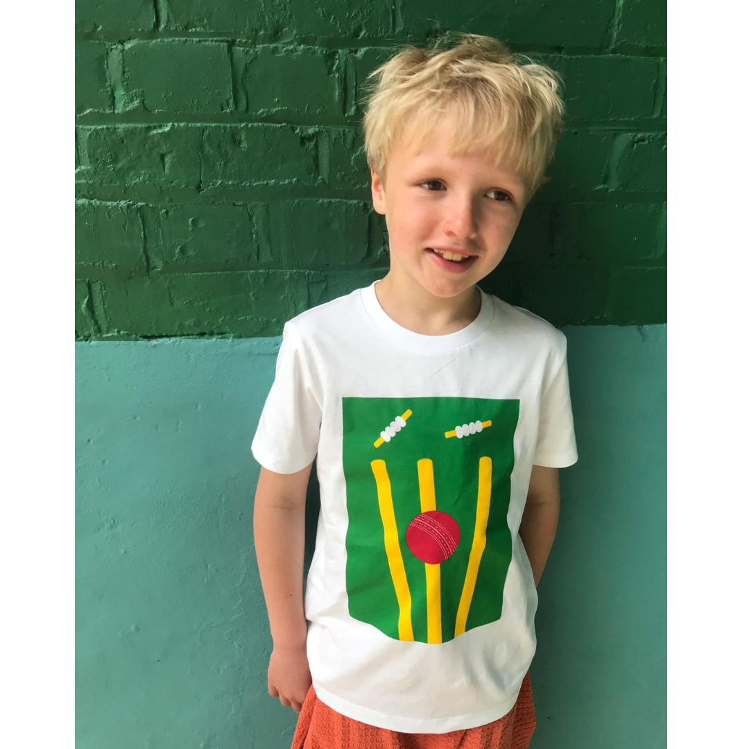 organic cricket t-shirt for boys