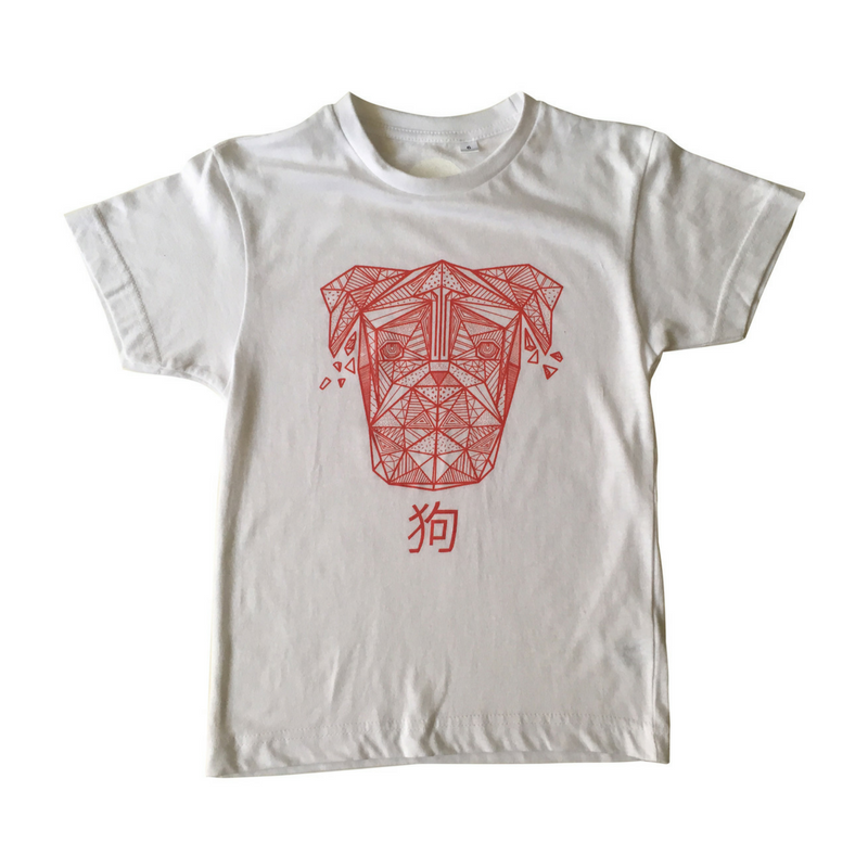 Geometric Print Dog T-shirt