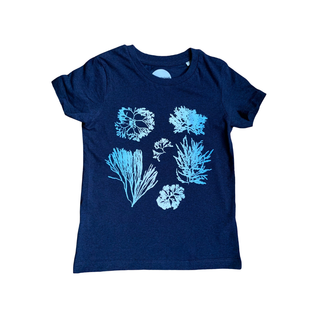 Seaweed and Algae Organic T-shirt in Dark Blue
