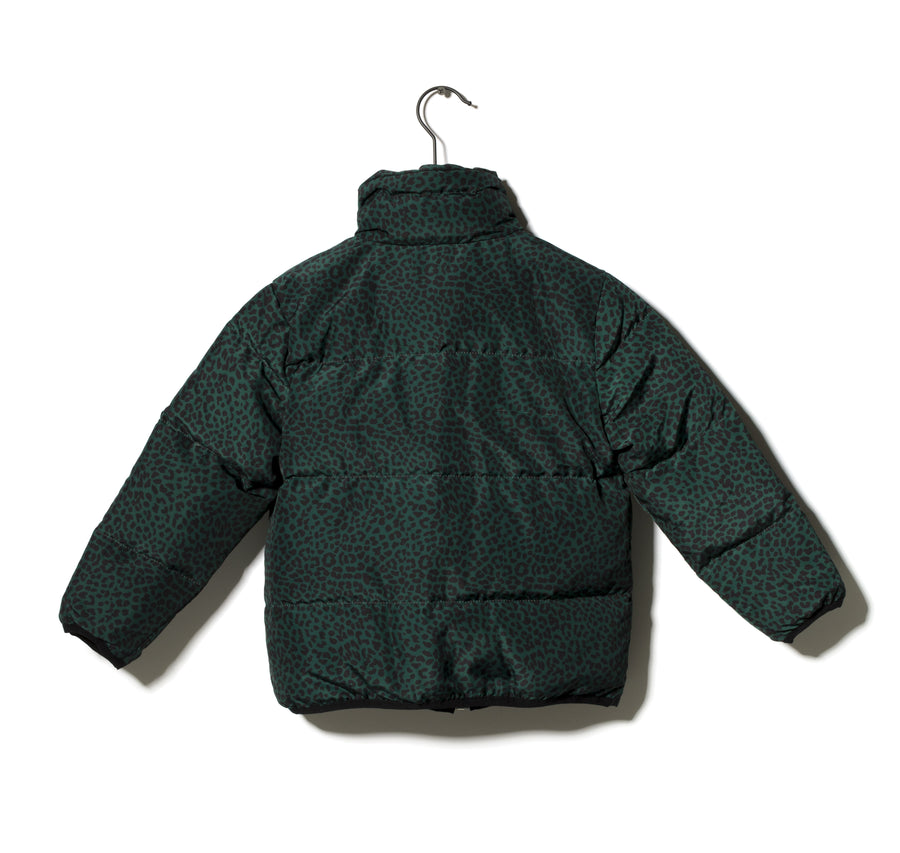 Someday Soon Thor Padded Bomber Jacket in Green Print