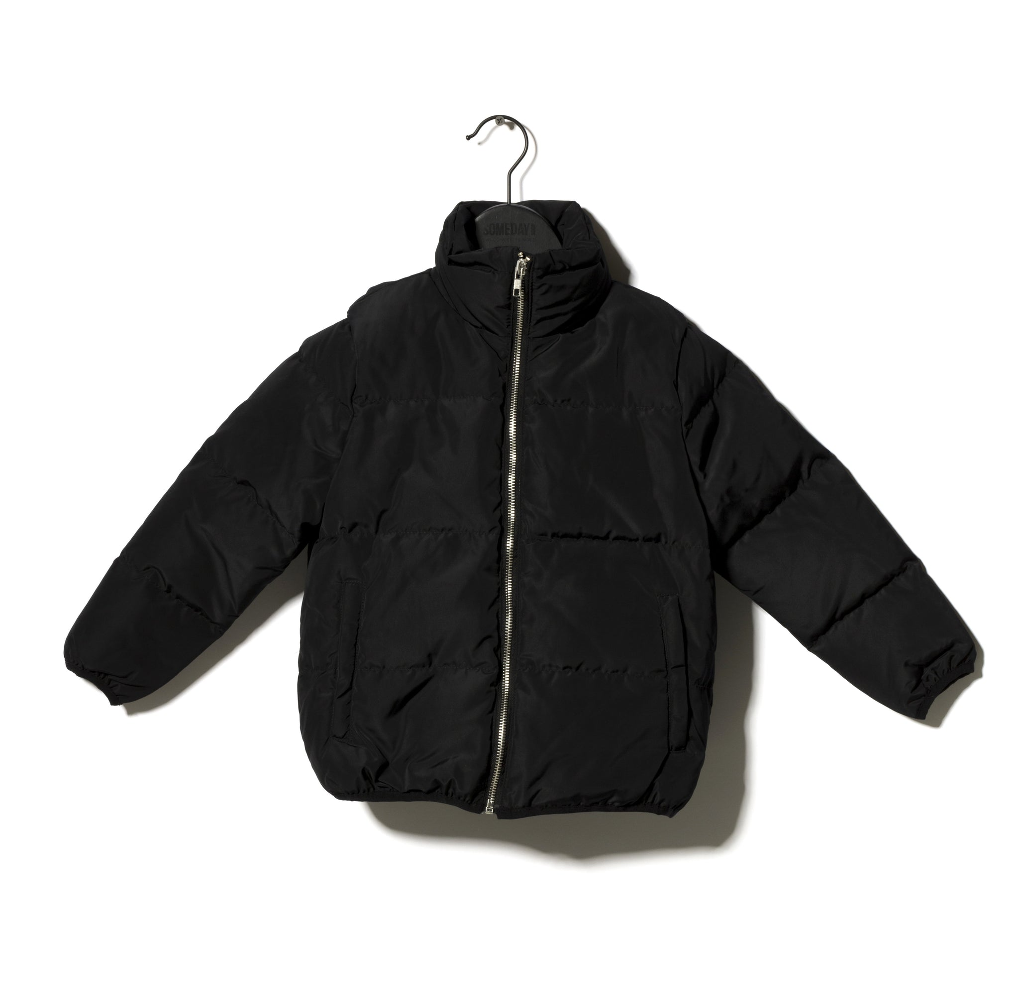 Someday Soon Thor Padded Bomber Jacket in Black