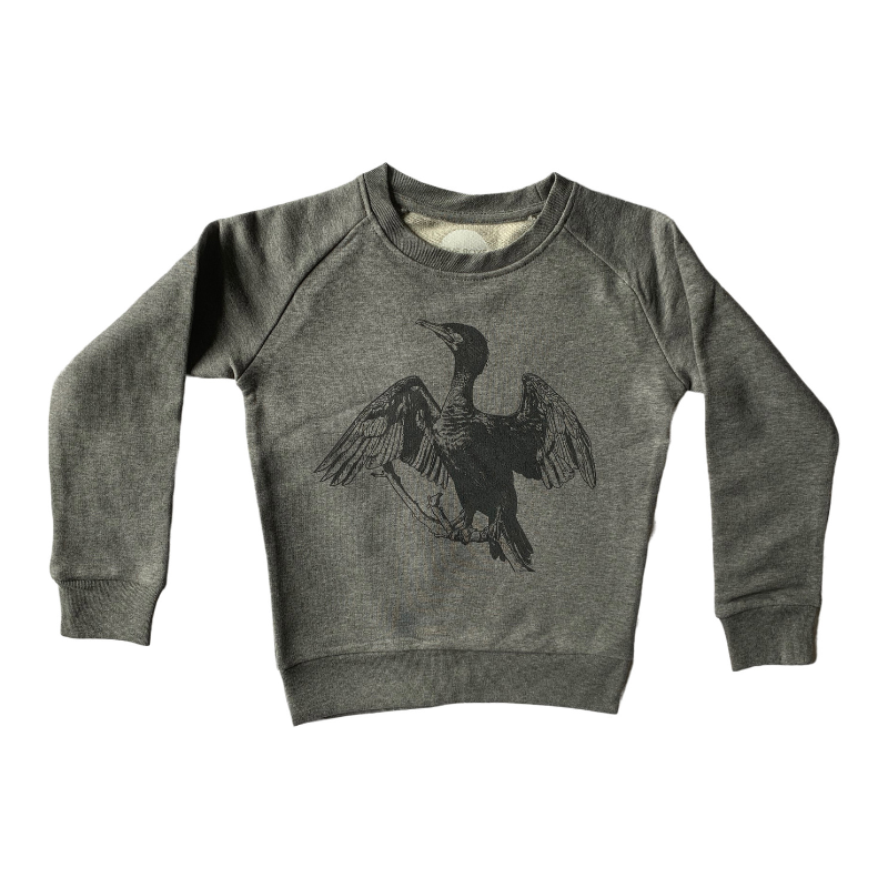 Cormorant Print Sweatshirt For Children